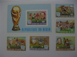 Niger 1978 World Cup Football SC#453-457,458 Imperf - Coppa Del Mondo