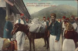 CPA Bosnie Herzégovine Bosanski Konj Natovaren Zitom Bosnisches Pferd Mit Getreide Beladen - Bosnie-Herzegovine