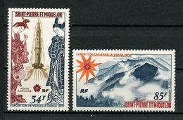 SPM MIQUELON 1970  PA N° 48/49 ** Neufs MNH Superbes C 81 € Espace Space Expo OSAKA Fusée Volcan Vulcano Japon - Posta Aerea