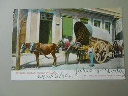 CUBA TYPICAL CUBAN COUNTRY CART  PRECURSEUR - Cuba