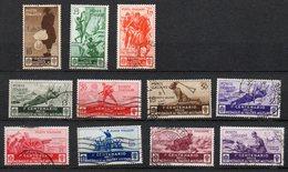 1934 Regno Medaglie Al Valor Militare Serie Completa N. 366 - 376 Timbrati  Used - 1900-44 Victor Emmanuel III.