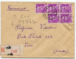 MEURTHE ET MOSELLE De TOUL    Env. Recom. De 1949 Avec Dateur A 6 - Marcophilie (Lettres)