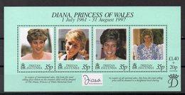 TRISTAN DA CUNHA Timbres Neufs ** De 1997   (ref 5509 ) Lady Diana - Tristan Da Cunha