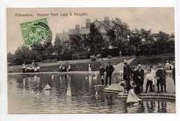 - CPA FOLKESTONE (Angleterre) - Radnor Park Lake & Hospital 1913 (belle Animation) - - Folkestone