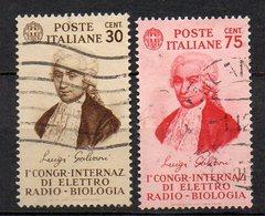 1934 Regno Elettroradio-biologia N. 364 - 365 Serie Completa Used - Oblitérés