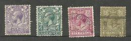 Grande-Bretagne N°144, 145, 147, 148 Cote 13.20 Euros - 1902-1951 (Könige)