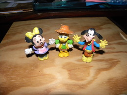 Lot De 3 Figurines Disney Minnie, Donald Et Dingo - Disney