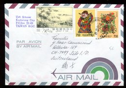 Taiwan - Enveloppe Pour La Suisse En 1992 - Lettres & Documents