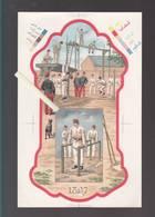 8 Tirages D'essai XIXème D'imprimeur (oberthur) Pour Calendriers - Sujets Militaires - Dont Eugene Chaperon - - Calendars