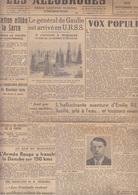 C1   Grenoble LES ALLOBROGES 30 11 1944 Resistance Liberation - Revues & Journaux