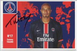 Football PSG Paris Saint St Germain - Carte Avec Autographe Authentique De Sammy Traoré - Fly Emirate - French Soccer - Football