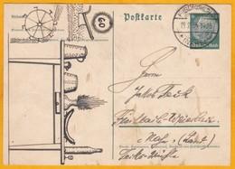 1935 - Von Hand Gezeichnet Rebus - 6 Pf Stationery Postcard From Fieschbach, Germany - Germany