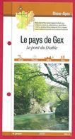 Fiches Randonnées Et Promenades, Le Pays De Gex, Le Pont Du Diable, Ain (01), Région Rhône Alpes - Sports