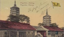 CHINE PEKIN PAGODEN PEKING PAGODAS BELLE CARTE RARE !!! - Chine