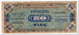 GERMANY,ALLIED OCUPATION,50 MARK,1944,P.196d,FINE - [ 5] 1945-1949 : Allies Occupation