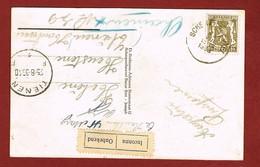 Zichtkaart Scherpenheuvel 1938   Vignet Onbekend  Van Tienen? - Postmark Collection
