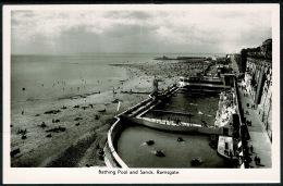 RB 1211 - Real Photo Postcard - Bathing Pool & Sands - Ramsgate Kent - Ramsgate