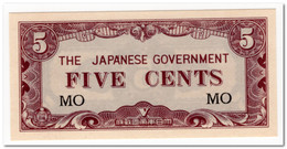 MALAYA,JAPANESE GOVERNMENT,5 CENTS,1942,P.M2,UNC - Banknotes