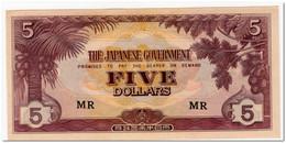 MALAYA,JAPANESE OCCUPATION,5 DOLLARS,1942,P.M6,UNC - Banknotes