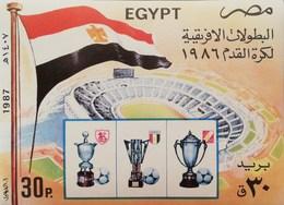 Egypt  1987 Natl.Team Victory At 1986 Intl.Soccer Championship S/S - Egypt