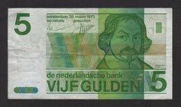 Billet . Pays-Bas . 5 Gulden . 03/28/1973 . N° 5070704274 . - [2] 1815-… : Regno Dei Paesi Bassi