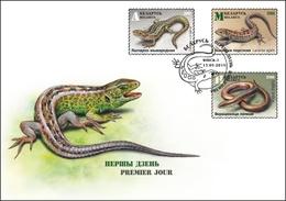 TH Belarus 2018 Lizards Reptiles Lizard Fauna FDC - Reptiles & Anfibios