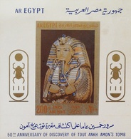 Egypt  1972 50th. Anniv. Of The Discovery Of The Tomb Of Tutankhamun S/S - Egypt