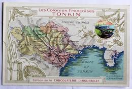 Chromo Format CPA Tonkin Vietnam Hanoï Les Colonies Françaises Carte Chocolaterie Aiguebelle - Viêt-Nam
