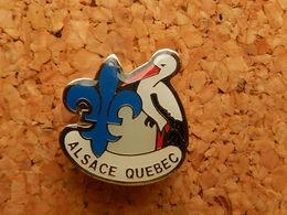 Pin's - ALSACE QUEBEC - CIGOGNE - France Telecom