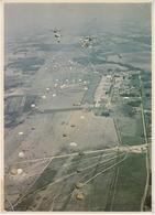 AVIATION PARACHUTISME LARGAGE 4 TRANSALL C 160 MAXI CARTE 15 X 21 BELLE CARTE RARE !!! - Paracadutismo