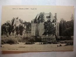 Carte Postale Selles Sur Cher (41) Façade Est Du Chateau (Petit Format Noir Et Blanc Circulée ) - Selles Sur Cher