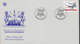 Bophuthatswana Date-stamp Card Pretoria EXPO '81 Crocodile Stamp Leopard Cachet - Bophuthatswana