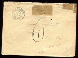 Enveloppe De Bourbon L ' Archambault Pour Moulins En 1871 - Marcophilie (Lettres)