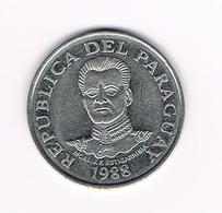 &   PARAGUAY   50  GUARANIES  1988 - Paraguay