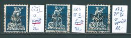 MiNr. 123 Plattenfehler II, VI, XI Gestempelt  + Geprüft - Alemania