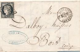 1849 20 C Noir S Blanc N° 3 S LAC Signée Calves TB. - 1849-1850 Ceres