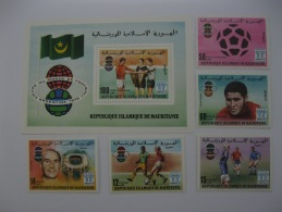 Mauritania 1978 World Cup Football SC#375-377,C182-183,C184 Imperf - 1978 – Argentina