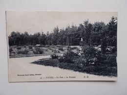 CPA 88 - VITTEL - Le Parc - La Roseraie, Cachet 1921  - NO REPRO - Vittel Contrexeville