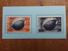 RUSSIA 1949 - 75° Anniversario UPU Nn. 1366/67 Non Dentellati Timbrati + Spese Postali - 1923-1991 URSS