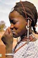 Afrique BURKINA FASO NABADOGO Province De Boulkiemdé Charmante Réserve Juvénile  (Femme Coiffure Bijoux)*PRIX FIXE - Burkina Faso