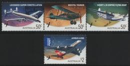Australien 2008 - Mi-Nr. 3047-3050 A ** - MNH - Flugzeug / Airplanes - 2000-09 Elizabeth II