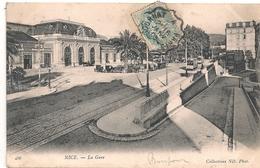 Cpa  06 Nice La Gare - Ferrocarril - Estación