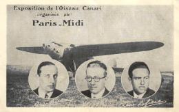 B 7647 - Exposition De L'Oiseau Canari Organisée  Par   Paris - Midi - Aviateurs