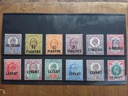 LEVANTE INGLESE - Re Edoardo VII° - 12 Valori Nuovi * + Spedizione Prioritaria - Levante Britannico