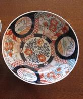 Ancienne Coupe Asiatique (Japon?) En Terre Cuite Décor Fleurs (diam 22cm) TB - Art Asiatique