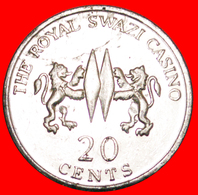 # ROYAL SWAZI CASINO: SWAZILAND ★ 20 CENTS COAT OF ARMS! LOW START ★ NO RESERVE! - Casino