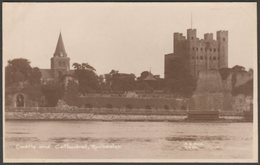 Castle And Cathedral, Rochester, Kent, C.1920s - Ash RP Postcard - Rochester
