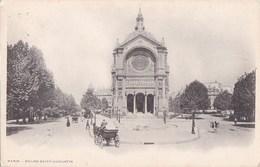 PARIS VIII° CPA  Place SAINT AUGUSTIN Travaux Avant Edification En 1900 STATUE De JEANNE D' ARC  Timbre - District 08