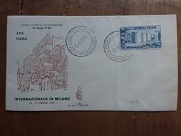 REPUBBLICA - Fiera Di Milano 1952 F.D.C. Venetia + Spedizione Prioritaria - 6. 1946-.. Repubblica