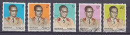 Congo 1969 Mi. 344-46 C, 349-50 C General Mobutu - Dem. Republik Kongo (1964-71)